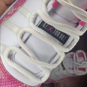 Pink snake skin Jordan 11's